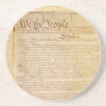 "US CONSTITUTION DRINK COASTER<br><div class=""desc"">The Constitution of the United States of America</div>"