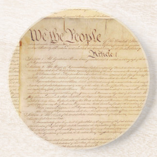 US CONSTITUTION DRINK COASTER