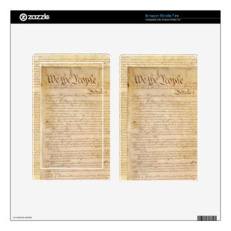 US CONSTITUTION KINDLE FIRE DECAL