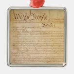 US CONSTITUTION METAL ORNAMENT