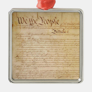US CONSTITUTION METAL ORNAMENT