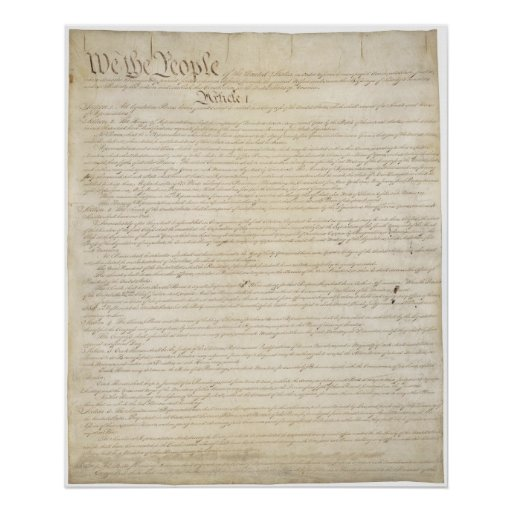 US. constitution Page 1 Posters