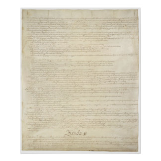 US. Constitution Page 2 Poster