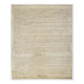 US. Constitution Page 3 Poster