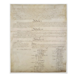 US. Constitution Page 4 Posters