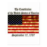 US Constitution Postcard