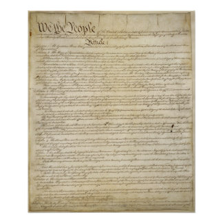 US Constitution Poster