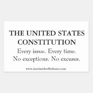 US Constitution Rectangular Sticker