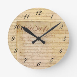 US CONSTITUTION ROUND CLOCK