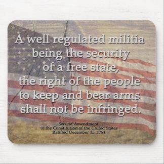 US Constitution Second Amendment Mouse Pad