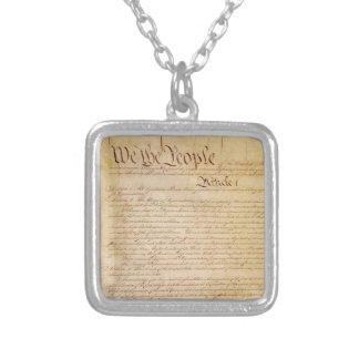 US CONSTITUTION SILVER PLATED NECKLACE