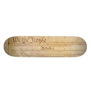 US CONSTITUTION SKATEBOARD DECK
