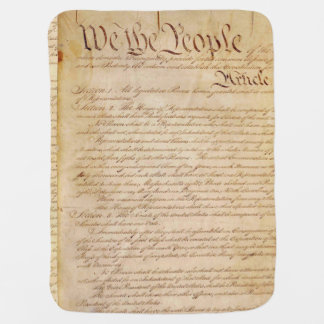 US CONSTITUTION SWADDLE BLANKET