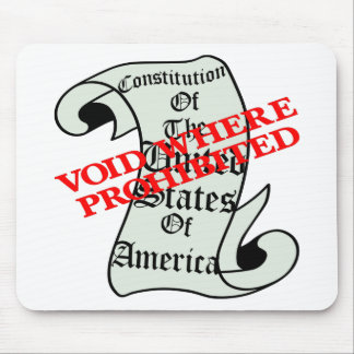 US Constitution Void Where Prohibited Mouse Pad