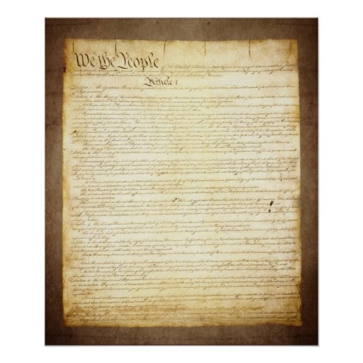 US Constitution We The People Posters