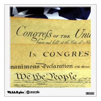 US Constitution - We The People Wall Sticker