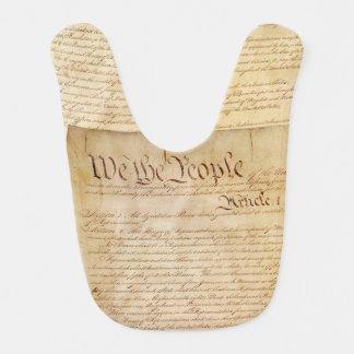 US CONSTITUTION BABY BIB