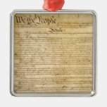 US Constitutional Freedoms - Know Your Rights! Christmas Tree Ornament