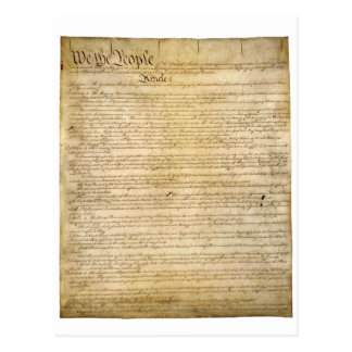 US Constitutional Freedoms - Know Your Rights! Postcard