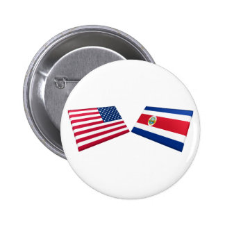 US & Costa Rica Flags Pin