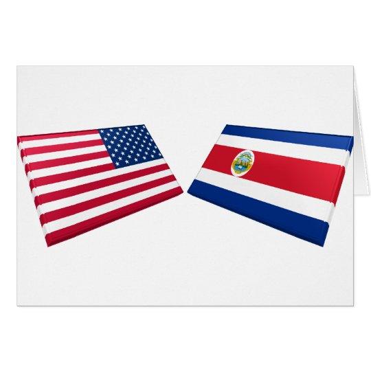 US & Costa Rica Flags Card