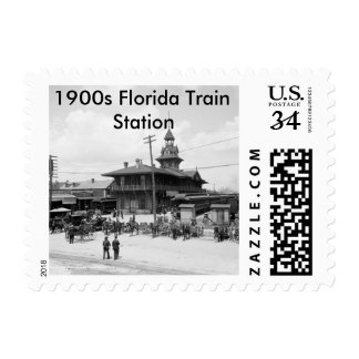US Custom Personalized Stamps(1900s Florida Train) Stamp