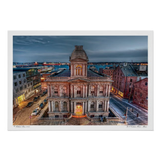 US Customs House Maine Poster