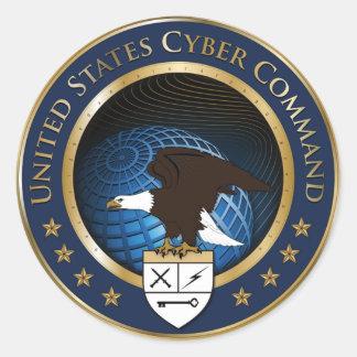 US Cyber Command Round Sticker