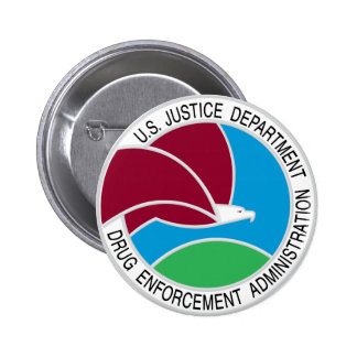 US DEA Seal 2 Inch Round Button