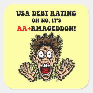 US Debt Sticker