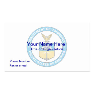 US Department of Commerce Business Card