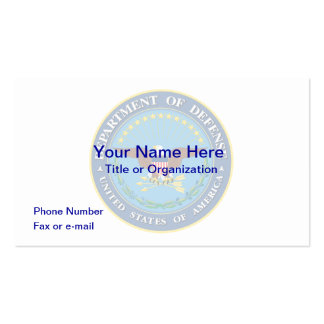 US Department of Defense Business Card