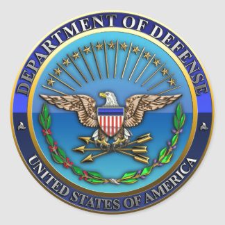 US Department of Defense (DoD) Classic Round Sticker