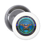 US Department of Defense (DoD) Pinback Buttons