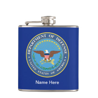 US Department of Defense DOD Seal Flask