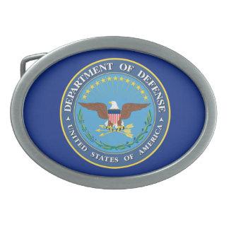 US Department of Defense DOD Seal Oval Belt Buckle