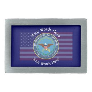 US Department of Defense Shield Rectangular Belt Buckle