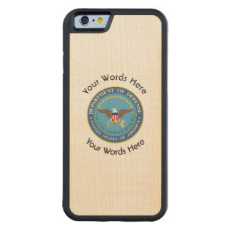 US Department of Defense Shield Carved® Maple iPhone 6 Bumper Case