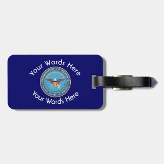 US Department of Defense Shield Luggage Tag