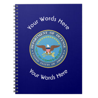 US Department of Defense Shield Spiral Notebook