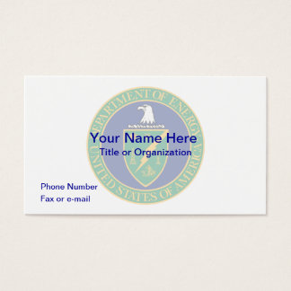US Department of Energy Business Card