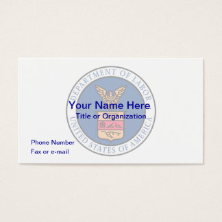 US Department of Labor Business Card
