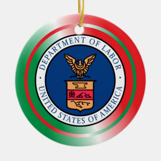 US Department of Labor Christmas Ornament