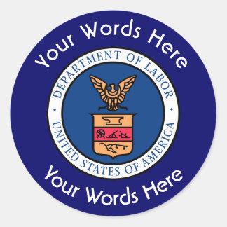 US Department of Labor DOL Custom Sticker