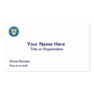 US Department of Treasury Business Card