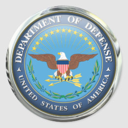 US Dept of Defense (pack of 6/20) Classic Round Sticker