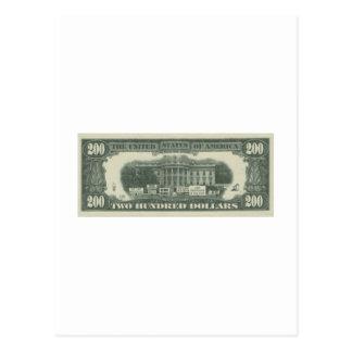 us dollar postcard