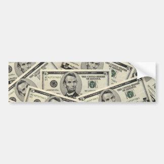 US Dollars American Money Bumper Sticker