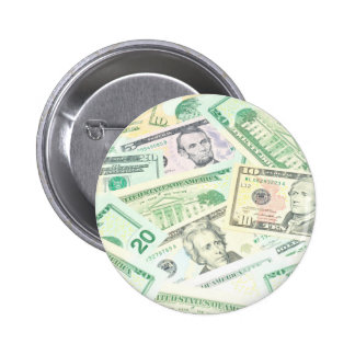 US dollars background Pinback Button