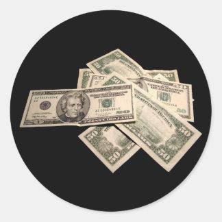 US Dollars Classic Round Sticker
